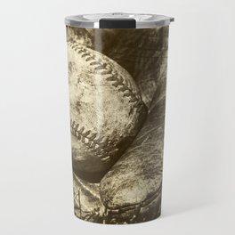 Vintage Baseball Memories 8 Travel Mug