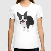 terrier T-shirts featuring Boston Terrier by Sarah