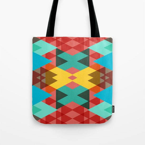Geometric Crazy 3D Tote Bag