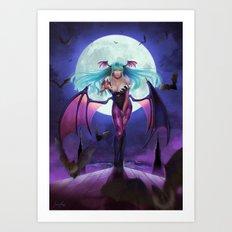 Morrigan from Darkstalker Art Print