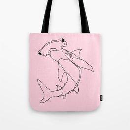 Hammerhead Shark (pink) Tote Bag