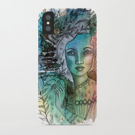Floral Lady iPhone Case