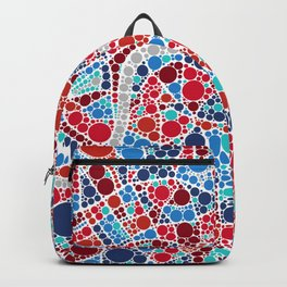 Contemporary London Map | Souvenir | Home Gift | Office / Commercial  Art Backpack