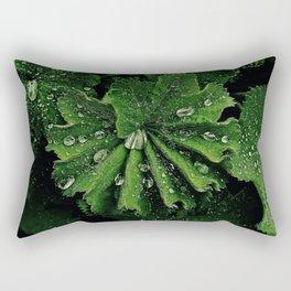 Dew On Rose Scented Geranium Leaves Rectangular Pillow