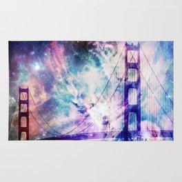 ultra violet golden gate bridge Rug