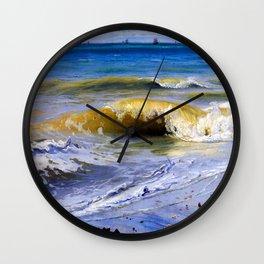 Johann Wilhelm Schirmer Breaking Waves Wall Clock