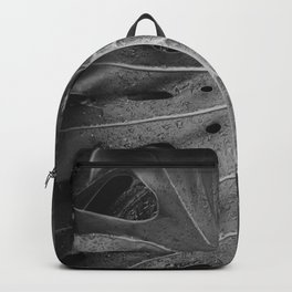 Botanical Leaf (Black and White) Backpack