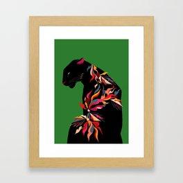 FIERCE FLOWER Framed Art Print