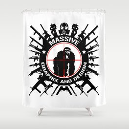 Massive GPX Gorilla Gun Logo Shower Curtain