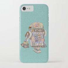 R2D2 Crashed Into A Flower Shop iPhone 7 Slim Case
