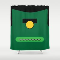 cyclops Shower Curtains featuring Cyclops by Visual Heist