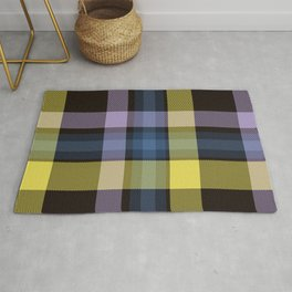 Blue Yellow Tartan Plaid Rug