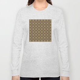 Gold and Black Islamic Edition Geometric Pattern Long Sleeve T-shirt