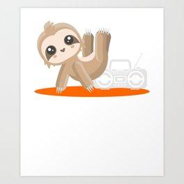 Funny Sloth Lover Gift Art Print