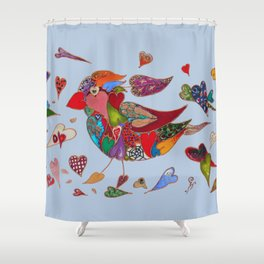 The Heart Collector Shower Curtain