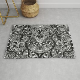 Drawing Floral Zentangle G6B Rug