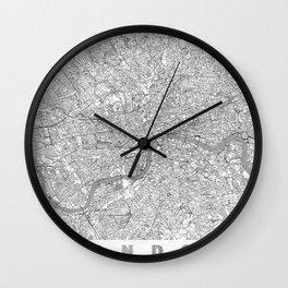 London Map Line Wall Clock