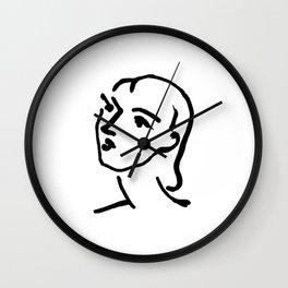 Matisse Line art Portrait Wall Clock