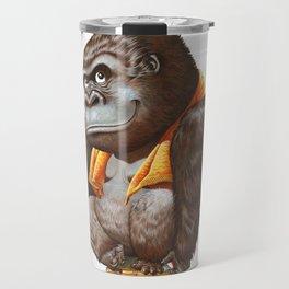 A gorilla relaxing after taking bath Travel Mug