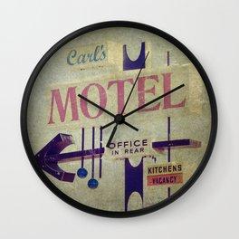 Carl's Motel Wall Clock