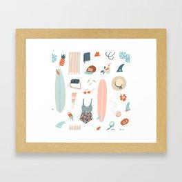 Summer kit Framed Art Print