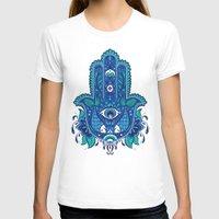 hamsa T-shirts featuring Hamsa by Miss ChatZ