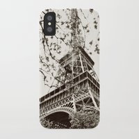 eiffel tower iPhone & iPod Cases featuring Eiffel Tower by Linde Townsend