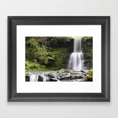 Blaen-y-glyn Waterfall 1 Framed Art Print