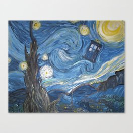 Starry Night in the TARDIS 2.0 Canvas Print