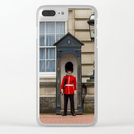 Buckingham Palace Guard Clear iPhone Case