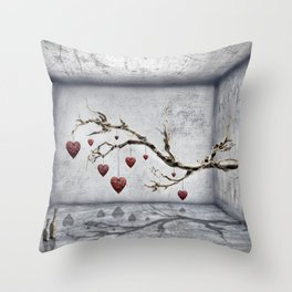 Der alte Liebesbaum  Throw Pillow
