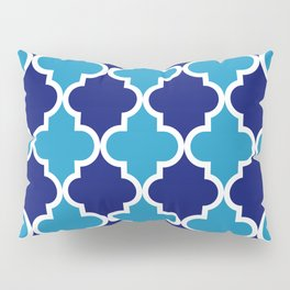 Quatrefoil - blue dual tone Pillow Sham