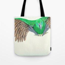 Kakapo in flight Tote Bag