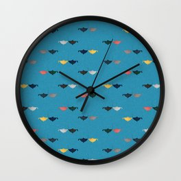 Hooked on you pattern Wall Clock