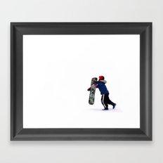 Child Snowboarding Framed Art Print