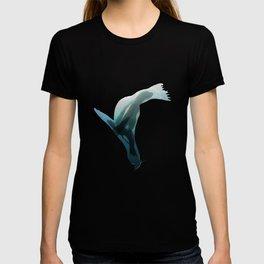 Galapagos sea lions triple exposure T-shirt