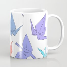 Japanese Origami paper cranes symbol of happiness, luck and longevity Coffee Mug