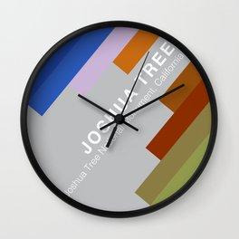 The colors of climbing spots - JOSHUA TREE Wall Clock