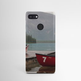 Quiet morning on the lake Android Case