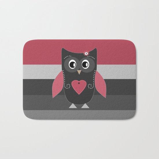 Wonderful owl . Pillow . Bath Mat