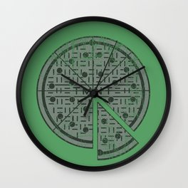 Slice of sewer life Wall Clock