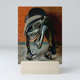 Worn Out Saddle Mini Art Print
