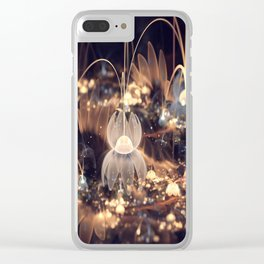 3D Color Flower Clear iPhone Case
