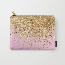 Gold Pink Glitter #1 (Faux Glitter) #shiny #decor #art #society6 Carry-All Pouch