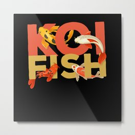Koi Fish Fish Zen Garden Metal Print