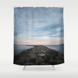 The Jetty at Sunset - Landscape Shower Curtain