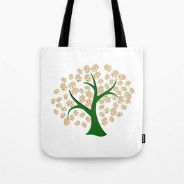 Golden dollars tree Tote Bag