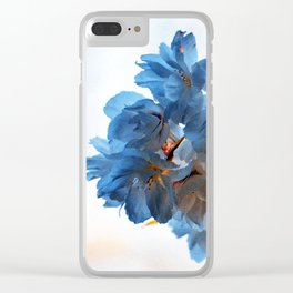 SPRING BLOSSOMS - IN BLUE Clear iPhone Case