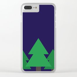 Blue Treescape Clear iPhone Case