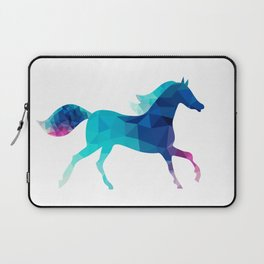 blue horse made of triangles Laptop Sleeve